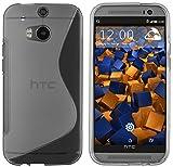 mumbi S-TPU Schutzhülle HTC One M8 / M8s Hülle transparent schwarz