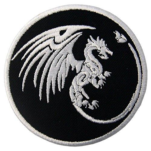 ZEGIN Aufnäher, Bestickt, Design: Drachen Symbole, Macht und Macht, zum Aufbügeln oder ()