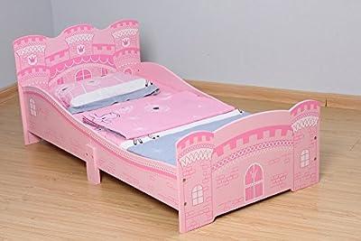 Mcc® Cama del niñito de los niños en forma de castillo, cama princesa (Rosa)