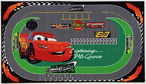 Disney Alfombra Cars Racing Rug Verde/Rojo size is not in selection ES