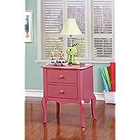 247shopathome Kinder, Hartholz, Pink, Nachttisch - preisvergleich