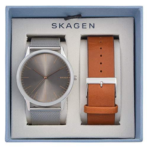 Skagen Herren Analog Quarz Uhr mit Edelstahl Armband SKW1097