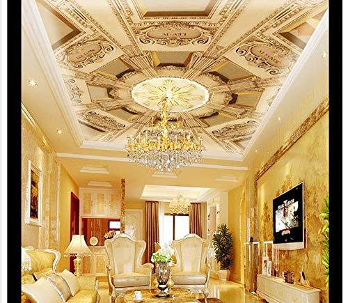 Benutzerdefinierte 3D-Decke Wallpaper Dome Hotel Fresken an der Decke Malerei Design Wallpaper Floral Dome