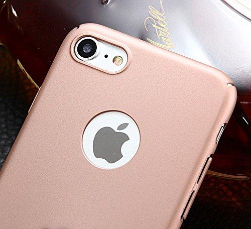 Für Apple IPhone 7 Abdeckungs-Fall, helles Oberflächen-dünnes u. Leichtes Gewicht-harter harter schützender rückseitige Abdeckung mit Finger-Ring-Standplatz ( Color : Black ) Blue