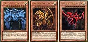 YuGiOh Premium Gold Set of all 3 God Single Cards [Obelisk, Ra & Slifer] PGLD-EN030, EN031 & EN032