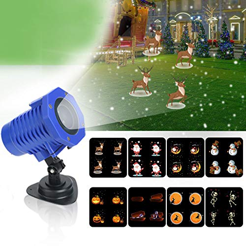 OOFAN LED Projektionslampe, Schneefall Projektor Licht Animation Projektionslampe Außen Wasserdicht IP65 Weihnachtsbeleuchtung Innen Dekoration Halloween Beleuchtung