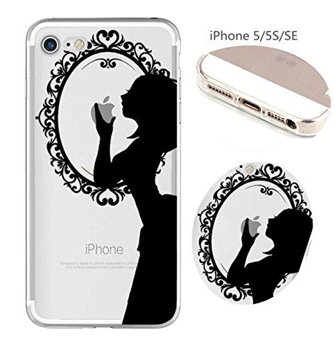 Cover iPhone 6 Plus Custodia telefono creativo trasparente silicone Guscio morbido Anti Graffio Copertura protettiva Anti-polvere paraurti Si applica a iPhone 6/6S Plus(5.5) disegno-13