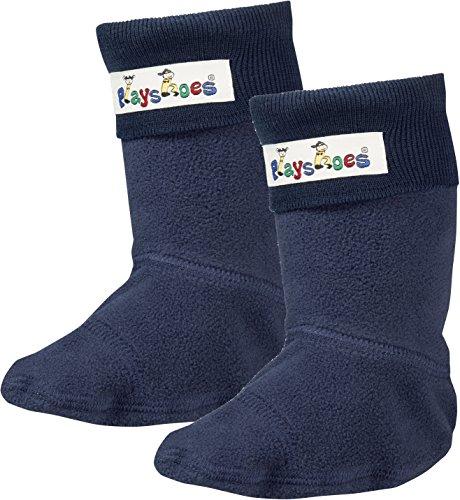 Playshoes Mädchen Fleece-Stiefel Socken, Blau (Marine), 28/29 - Wellie Warmers