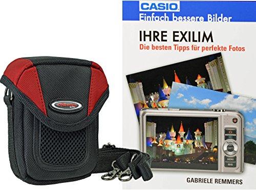 fz300 buch Progallio Foto-Tasche ADVENTURE X-TREME POCKET schwarz-rot plus Fotobuch IHRE EXILIM für Casio