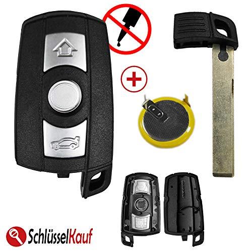 KONIKON Autoschlüssel 3 Tasten Gehäuse mit LIR2025 Batterie passend für BMW E60 E87 E90 E91 E92 X1 X5
