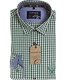 Marvelis Hemd Casual Langarm Trachtenhemd grün, rot, hell- oder dunkelblau Karo, Farbe:Rot Karo;Kragenweite / Größe:43/44 XL