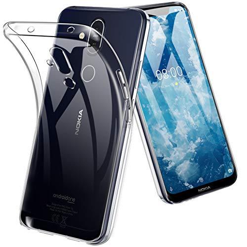 TopACE Hülle für Nokia 8.1, TPU Hülle Nokia 8.1 Schutzhülle Durchsichtig Klar Silikon transparent für Nokia 8.1 (Transparent)