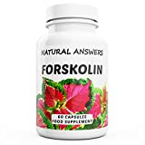 Forskolin by Natural Answers - 60 Capsules - 1 Month Supply - High Strength 100% Pure Natural Powerful Fat Burner Tablets for Women and Men - Healthy Weight Loss & Blood Sugar Support to Help You Lose Weight Quickly and Burn Fat Fast! - UK Manufactured