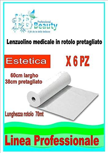 6 Rotoli Rotolo Carta Lettino Massaggio Lenzuolino medico Coprilettino Estetica