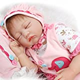 Real Life Love Dolls Best Deals - Fachel Reborn Baby Doll realistic baby dolls Vinyl Silicone Babies 22inch 55cm Newborn real baby doll Life Like Reborn Pacifier Lovely Pink love Sleeping doll