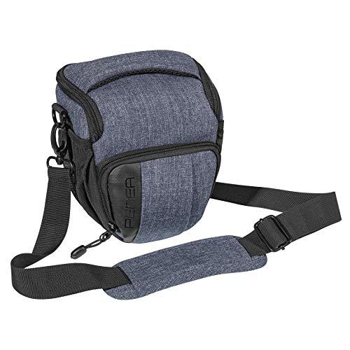 """PEDEA DSLR-Kameratasche """"Fashion"""" Fototasche für Spiegelreflexkameras mit wasserdichtem Regenschutz, Tragegurt und Zubehörfächern, Gr. M grau"""