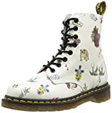 Dr. Martens Pascal - Botas, color Off White Skins Tattoo Digi, talla 39