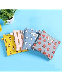 EasyBuy India 2 : 4 Colors Women Girl Cute Sanitary Pad Organizer Holder Napkin Towel Convenience Bags Small Bags...