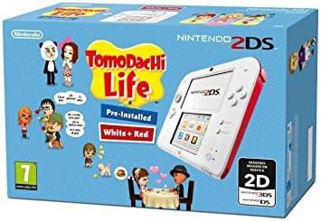 Nintendo 2Ds: Console Bianco/Rosso + Tomodachi Life [Bundle] [Importación Italiana]