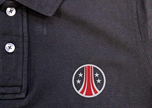 Aliens: USCM Logo Herren Vintage Pique Polo - Vintage Charcoal