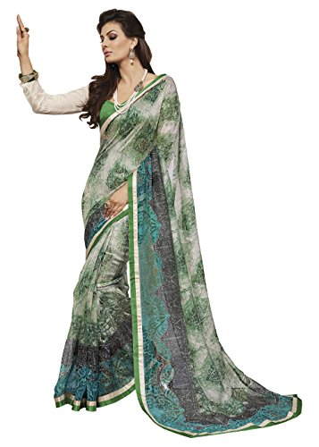 Bhavi Saree Net Saree (Bhs417_Light Green)