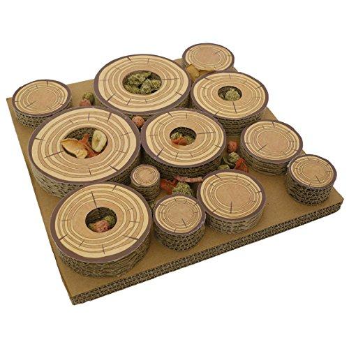 rosewood-maze-a-log-intelligenzspielzeug-fur-kaninchen-meerschweinchen-mit-leckerli-versteck