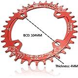 MaMaison007 104mm bici bicicleta estrecho ancho velocidad círculo ovalado plato 32T 34T 36T-r...
