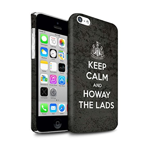 Offiziell Newcastle United FC Hülle / Matte Snap-On Case für Apple iPhone 5C / Pack 7pcs Muster / NUFC Keep Calm Kollektion Howay Jungs