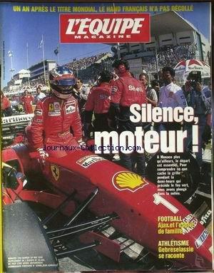 EQUIPE MAGAZINE (L') [No 739] du 18/05/1996 - HAND FRANCAIS - MONACO - F1 - FOOT - AJAX - ATHLETISME - GEBRESELASSIE. par Collectif