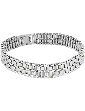 Crystalique Unisex-Armband Glam Rock Stainless Steel 5 Bar Panther Bracelet 9 inches Edelstahl 23 cm-0.22.9724
