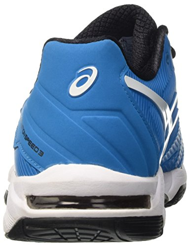 Asics Herren Gel-Solution Speed 3 Tennisschuhe Mehrfarbig (Blue Jewel/White/Black)