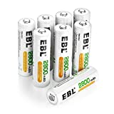 EBL 8 Pack AA Rechargeable...