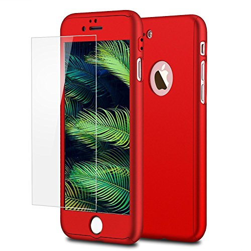 MIMOB 360 Protective Body Case with Tempered Glass for Apple iPhone