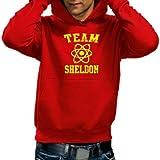Coole-Fun-T-Shirts Men's Logo Sweatshirt Team Sheldon/Big Bang Theory Vintage hoodie