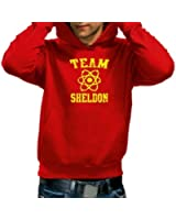 Coole-Fun-T-Shirts Men's Logo Sweatshirt Team Sheldon/Big Bang Theory Vintage hoodie