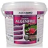 AQUASAN Gartenteich ALGOLESS Faden-Algenfrei Plus (GRATIS Lieferung in DE - Beseitigt, stoppt Fadenalgen im Teich. Der Fadenalgen-Entferner, Fadenalgen-Vernichter, Fadenalgen-Mittel), Inhalt:5 kg
