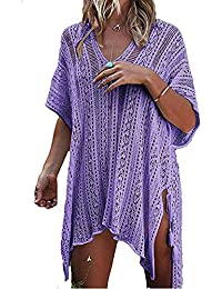 054dce723f Womens Bikini Cover Ups,Hollow Crochet Sexy See-Through Lace Bohemia  Bathing Suit for
