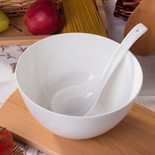 SX-ZZJ Schüssel Keramik vietnamesische Schüssel, Japanische Ramen Nudel Schüssel/Popcorn/Obst/Dessert/Teller Schüssel (8 Zoll) (Farbe : A)