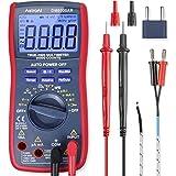 AstroAI digitale multimeter, TRMS 6000 tellt voltmeter handmatig en auto ranging meet spanning tester stroom, weerstand, doorgang, frequentie; tests diodes, transistors, temperatuur, rood