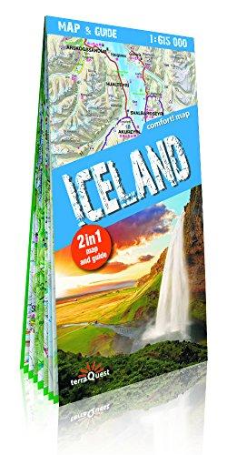 Islandia, mapa y guía XXL 1:615.000 mapa plastificado. TerraQuest. por VV.AA.