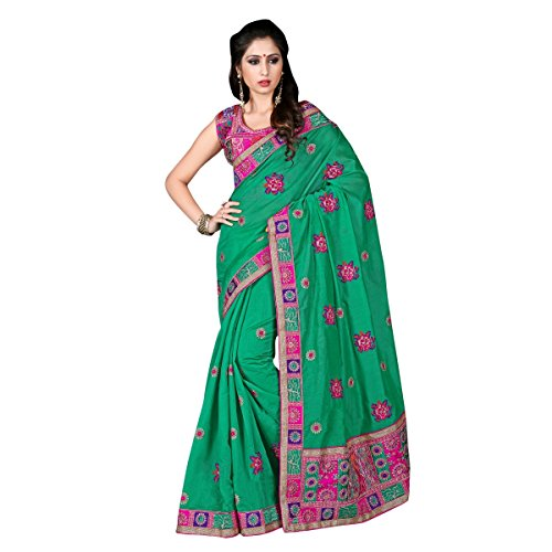 triveni-regal-de-couleur-verte-embroiderd-chanderi-saris-en-soie
