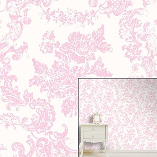 Pink Damask Wallpaper Amazoncouk