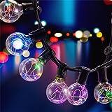 31 LED Lichterkette Glühbirne B-right G40 Lichterkette, strombetrieben, Innen und Außen Lichterkette, Lichterkette bunt, rgb, 155 leds. Weihnachtsbeleuchtung für Balkon Weihnachten Hochzeit Party