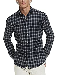 Scotch & Soda Long Sleeve Classic Shirt In Crispy Cotton Quality, Camiseta de Manga Larga para Hombre