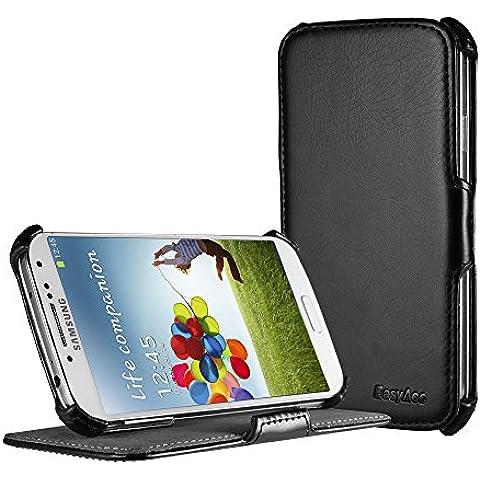 EasyAcc Custodia Samsung Galaxy S4 in Pelle, Colore: Nero
