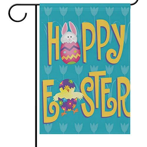 se Garten Hofflagge Banner Haus Dekoration 30,5 x 45,7 cm Eier klein Mini Deko doppelseitig Willkommen Flaggen für Urlaub Hochzeit Party Outdoor, Textil, Multi, 12x18(in) ()