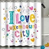 Randell Bathroom Shower Curtain Best Witches Halloween Party Waterproof Fabric Shower Curtain 60(W) X 72(L) Inches For Men Women Kids