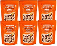 Harveys Crunchy & Creame Gourmet Delicacies Cream Wafer Biscuit 110 g Pouch Pack - Orange Flavoured(Pack of 6)