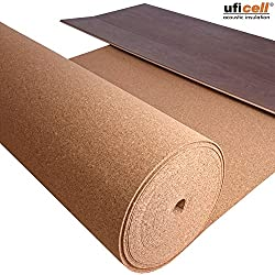 5m² | Impact sound insulation TRECOR roll cork - Thickness 10 mm - Acoustic Impact and sound insulation for laminate and parquet floors - Also ideal for pin boards -