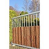 Garden Pleasure Sichtschutz aus Rinde Sichtschutzmatte Balkonsichtschutz Balkontrennwand Sichtschutzzaun (100x300)